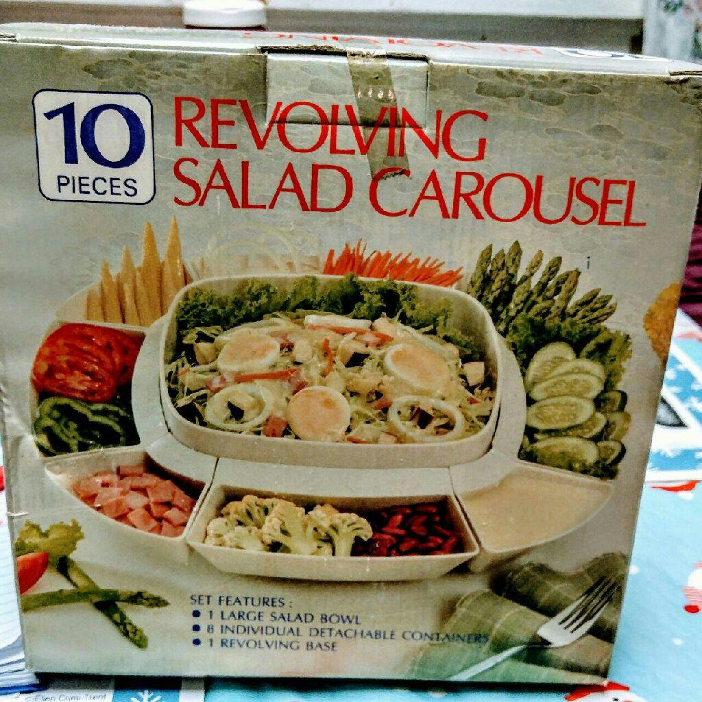 10 piece revolving salad carousel