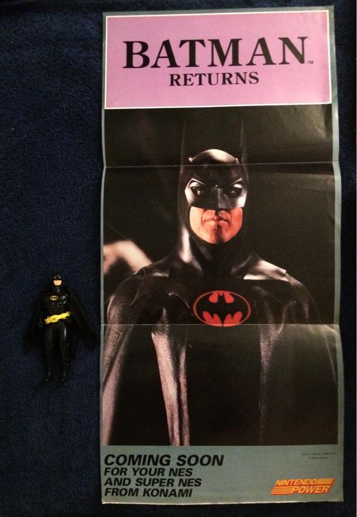 Nintendo Power Batman Returns Poster and Toy Figure 1989 🦇🦸🏻♂️🎮