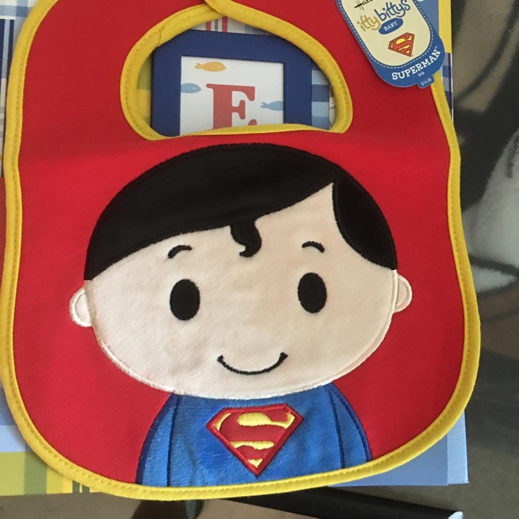 Brand new Superman bib