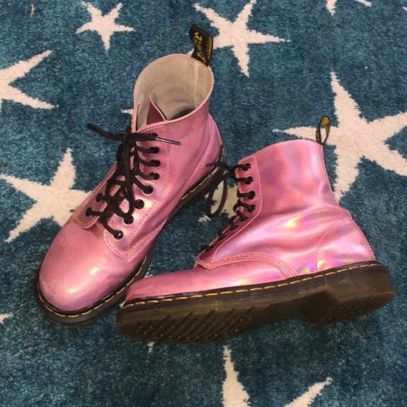 Mallow Pink Holographic Dr.Martens