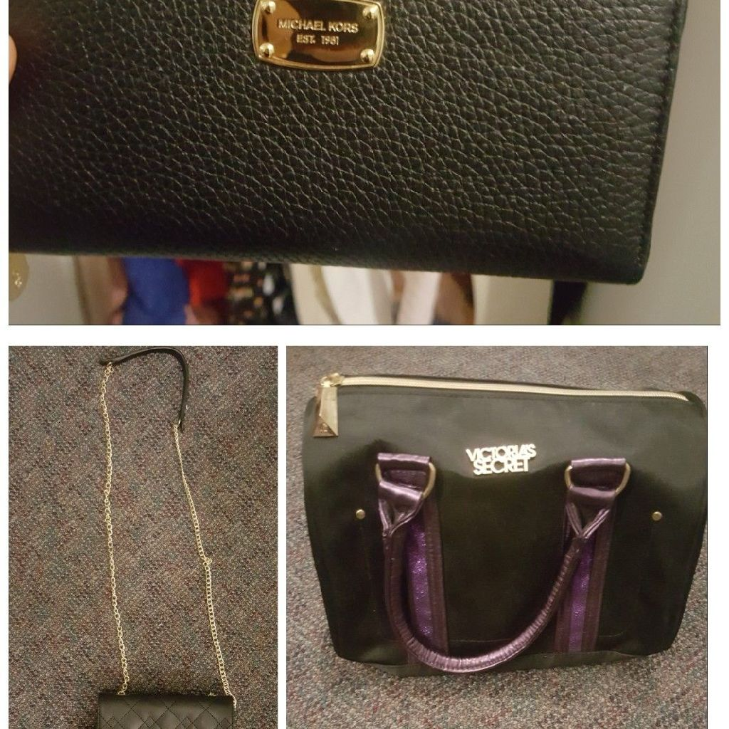 Michael kors wallet Victoria secret makeup bag and long strap purse