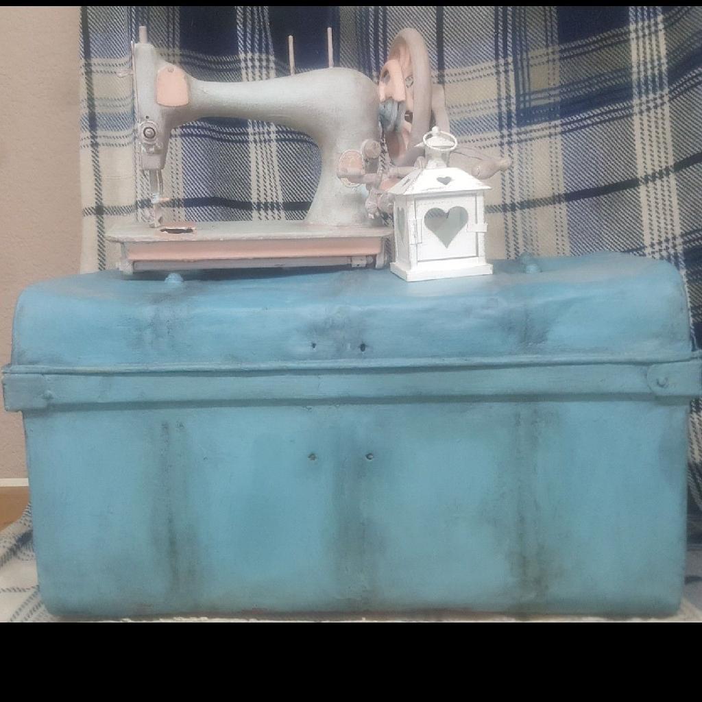Vintage tin trunk