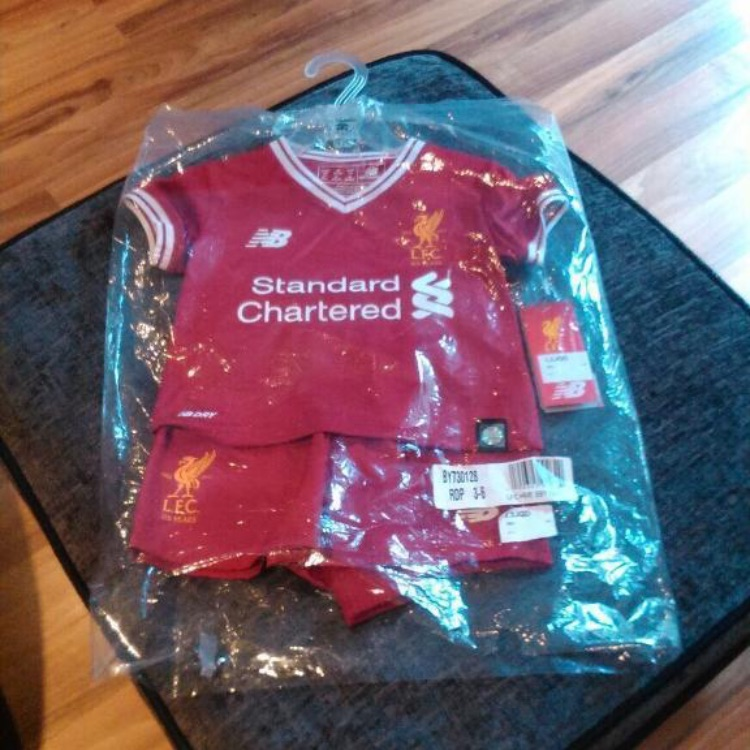 Baby clothes ( full liverpool kit )