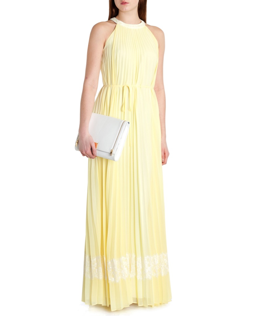 Ted Baker Lemon Yellow Maxi dress UK 8-10