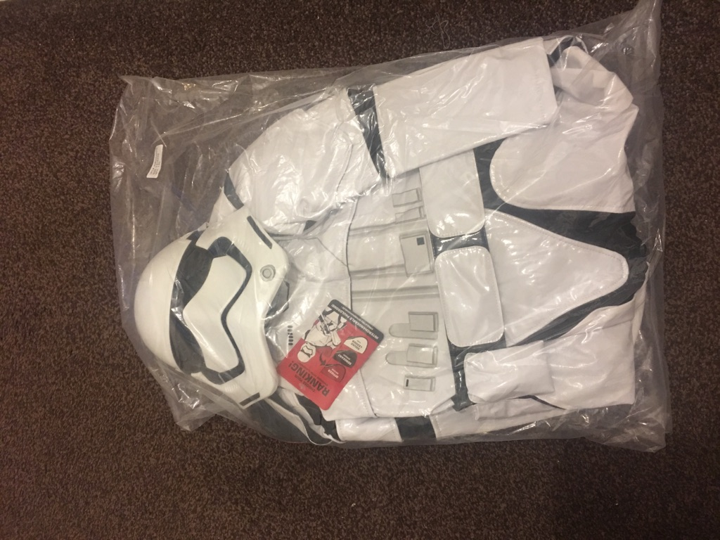 Brand new disney store storm trooper costume age 5-6