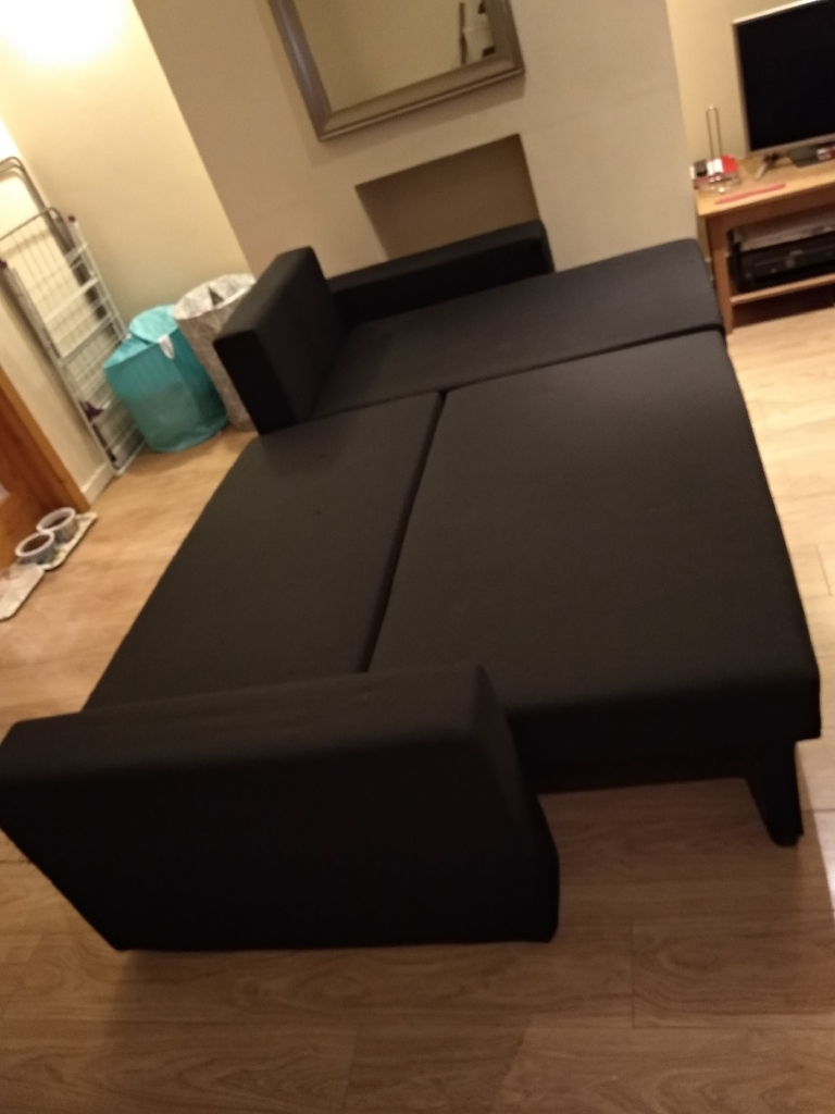 Sofa double bed chaise longue with storage