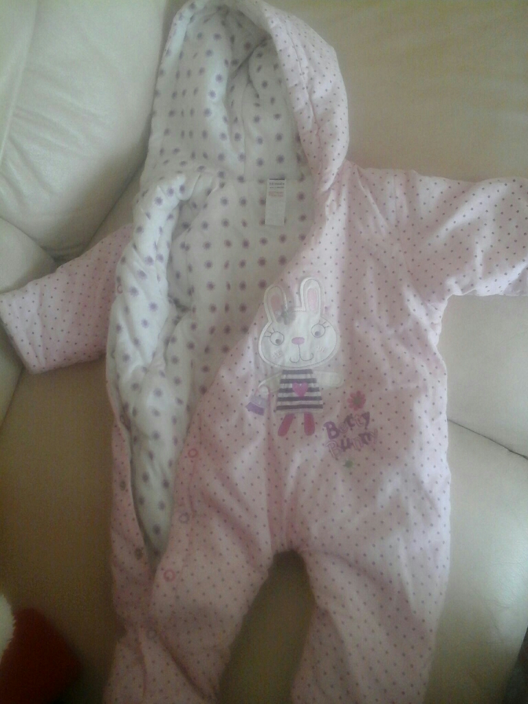 Baby girls snow suits 3 - 6 mths  and 6 - 9 mths.