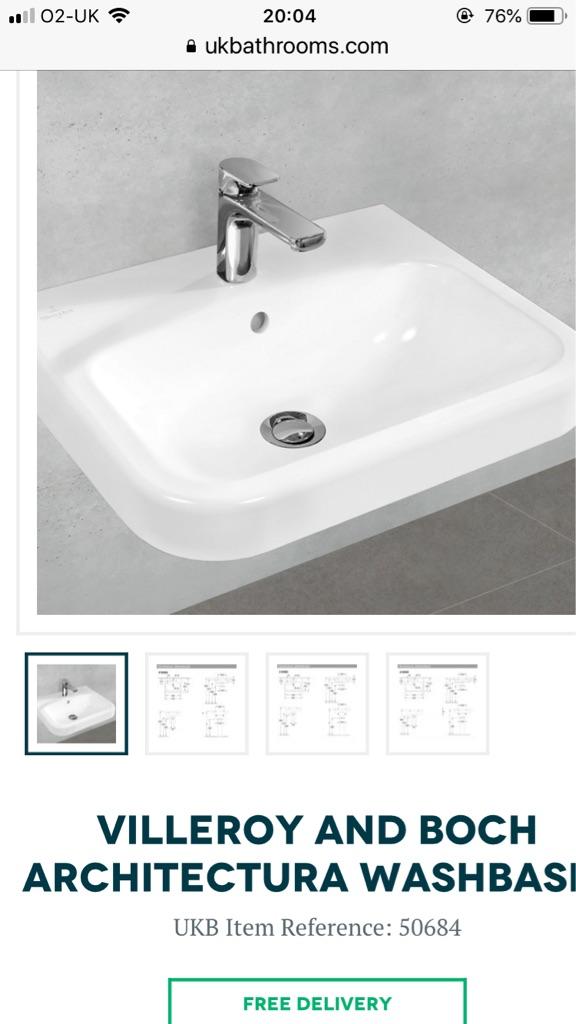 Villeroy and Boch basin 500mm