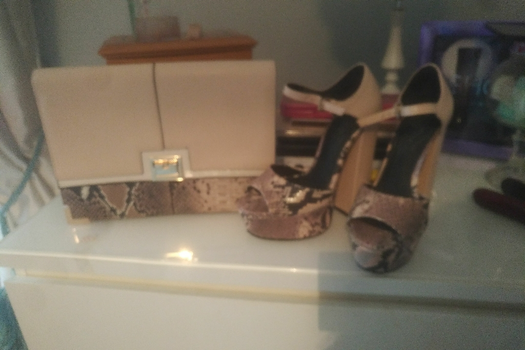 River island shoes and matching bag