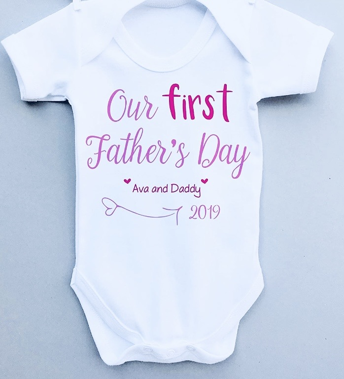 Father's Day baby vest