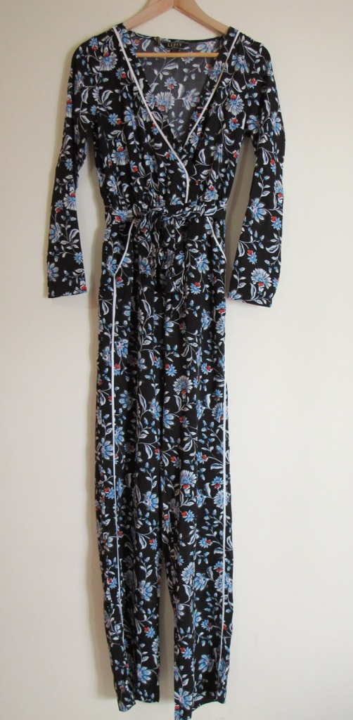 Lipsy Printed Wrap Jumpsuit Size 8