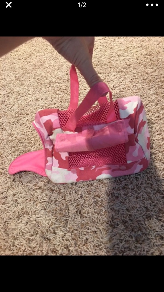 Pink and White animal carrier bag toy