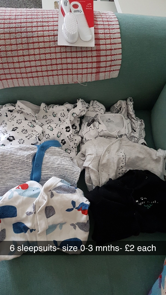Mixture of baby clothes