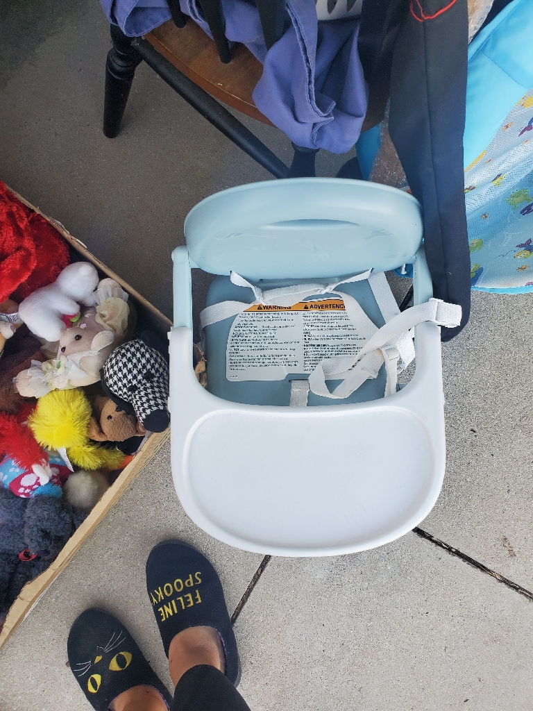 Baby chageing pad, baby net bath, baby high chair for chair, stuffed animals