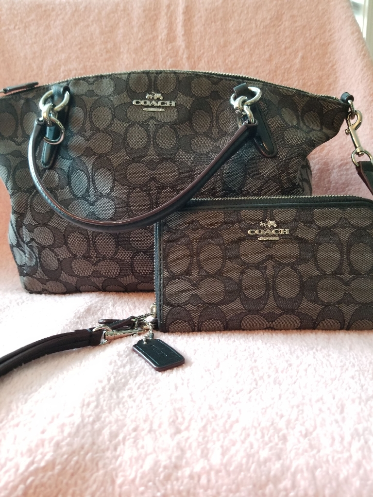 Coach handbag with wallet. Nine west tote with change purse. Coach purse with matching wristlet wallet