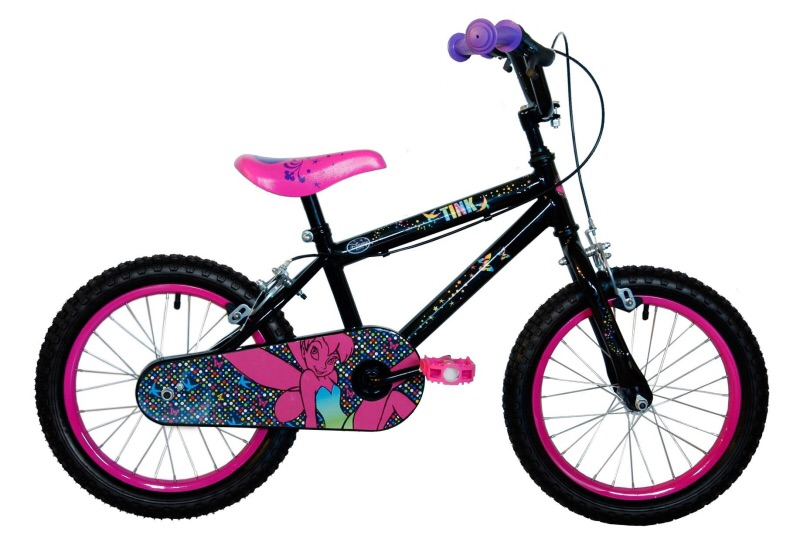 Used 16inch tinker bell bike with helmet