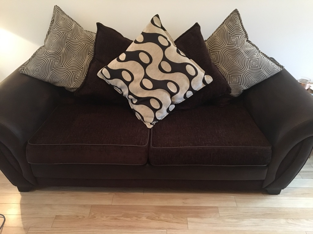 3 seater couch, matching chair and storage footstool