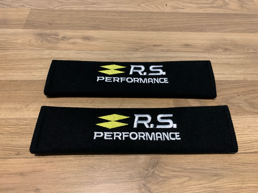 2X Seat Belt Pads Renault Megane Clio RS Sport Performance Tuning Turbo