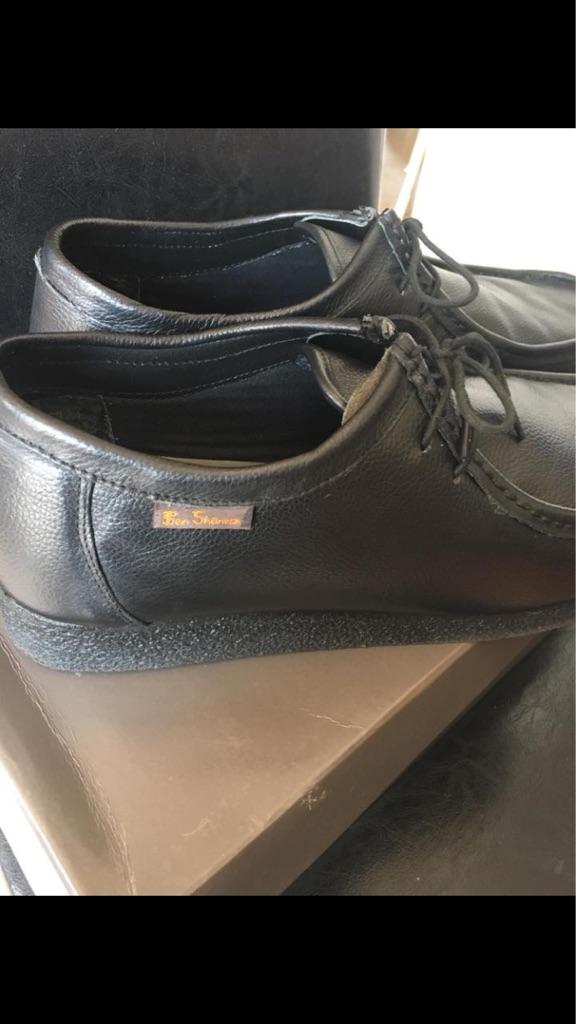 7f2d77149d Mens Ben Sherman Wallabee shoes black size 12