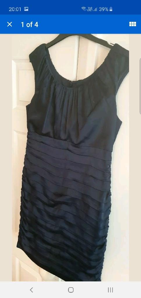 Navy coast pencil dress. Size 14. Worn once. Wedding. Bridesmaid. Occasion.