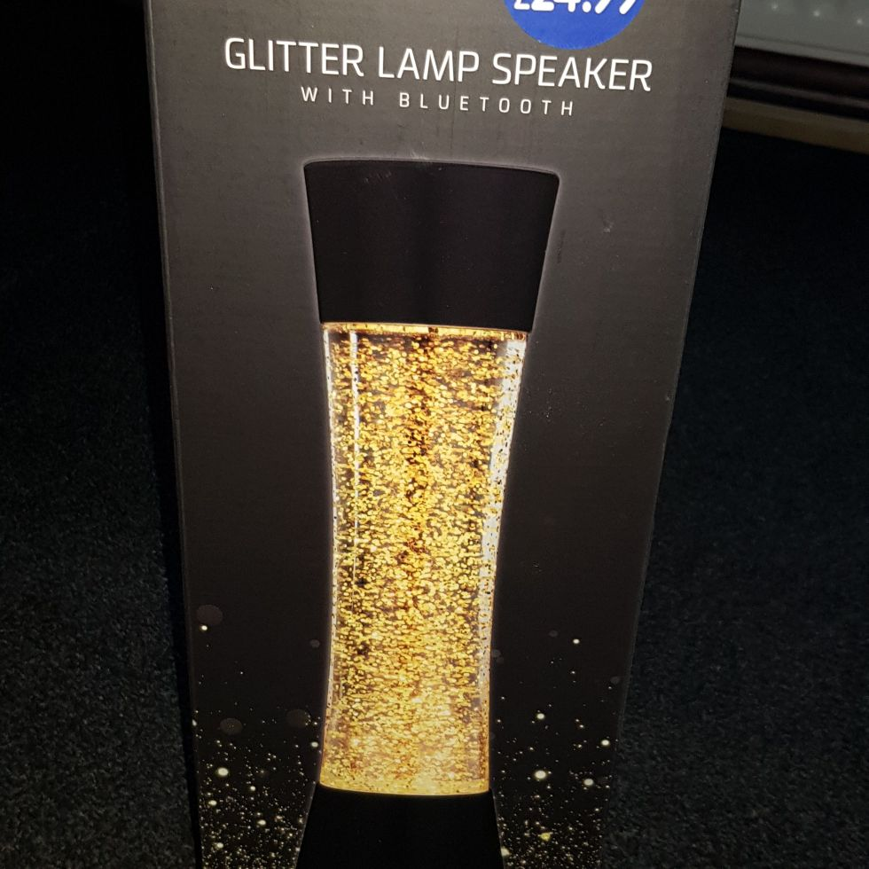Glitter lamp speaker with bluetooth