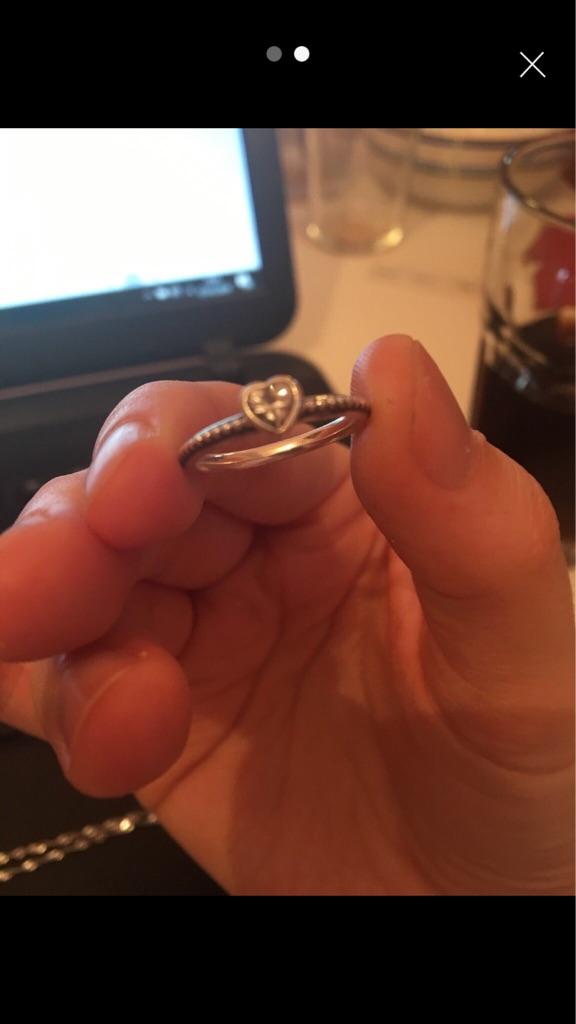 Pandora Silver heart ring size 50
