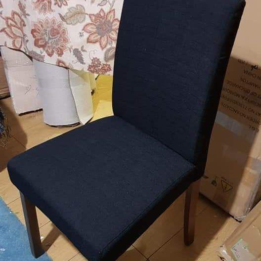 Brand nee 4 fabric black chairs £150