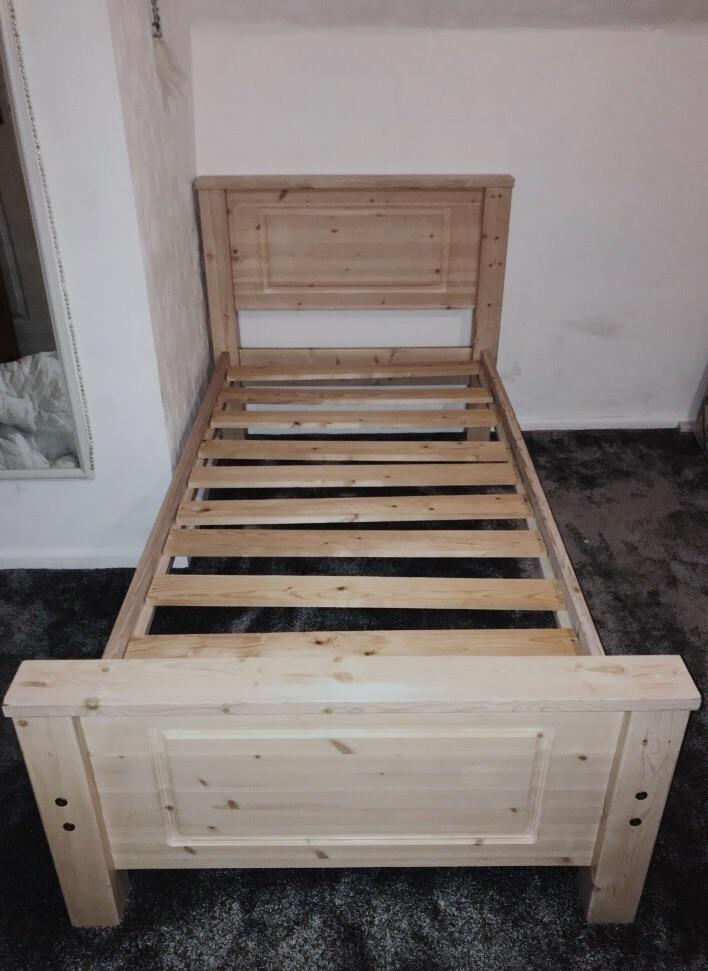 Hardwood bed frame