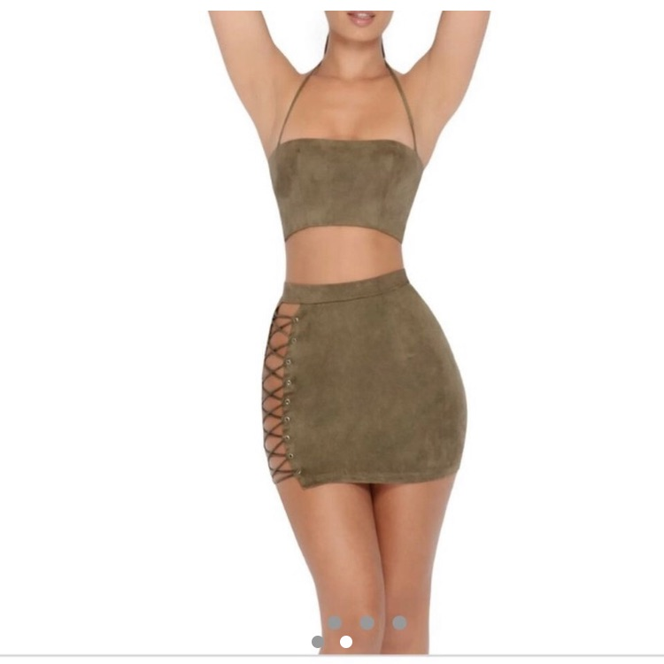 KHAKI CO ORD SET, oh polly