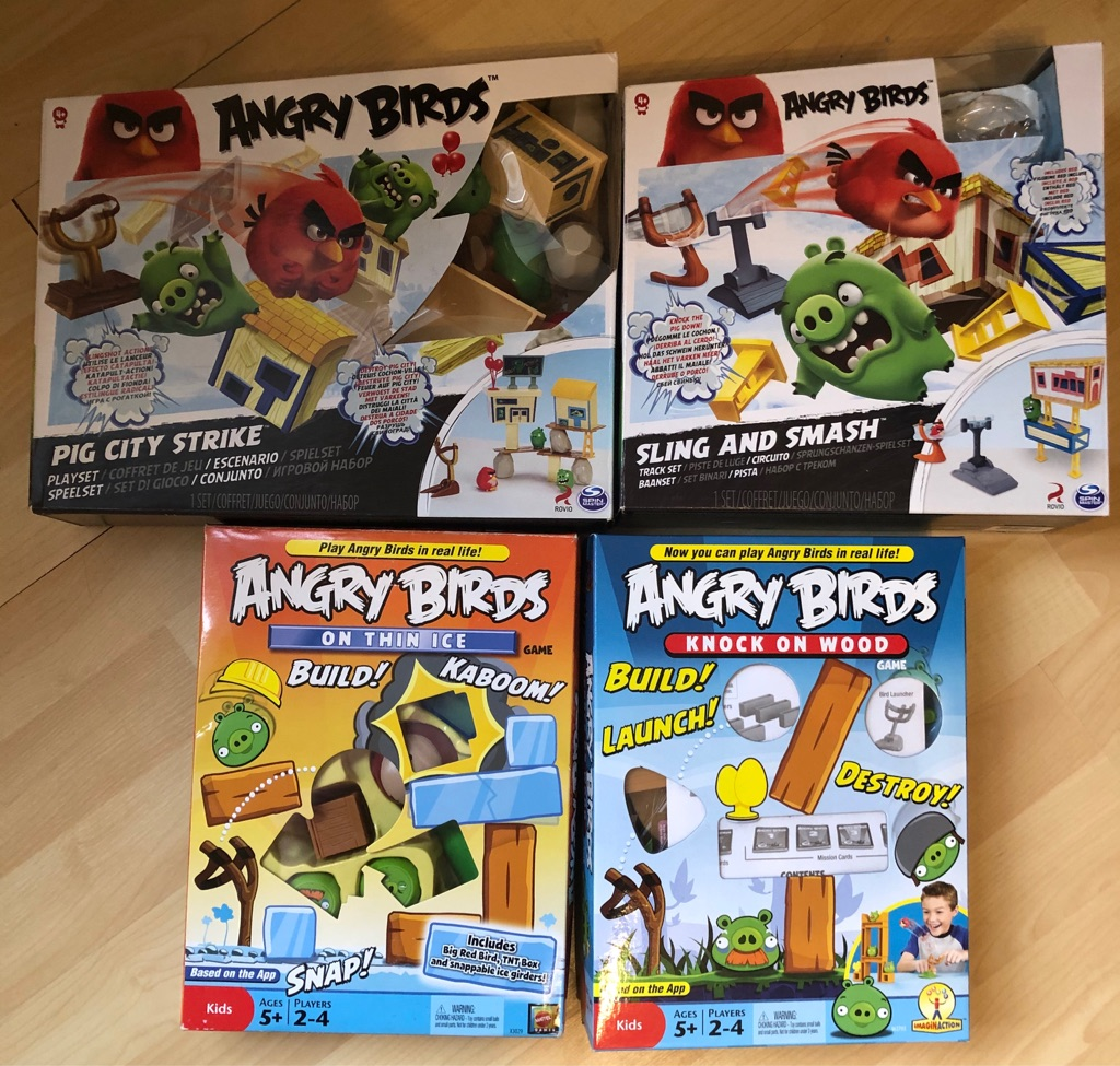 4 x Angry Birds Play Sets