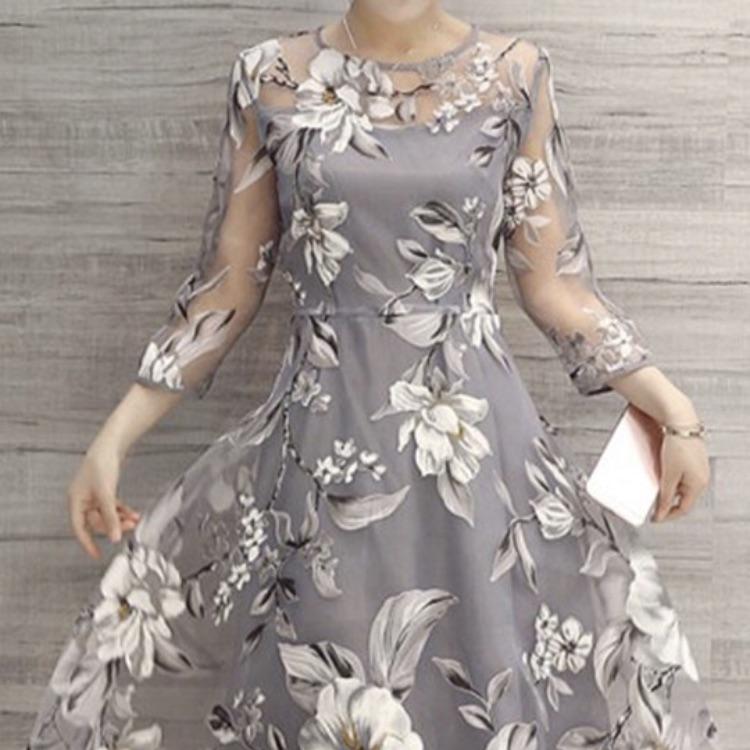 New grey and cream dress