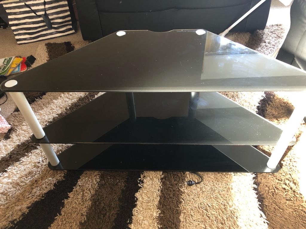 TV stand(black glass)