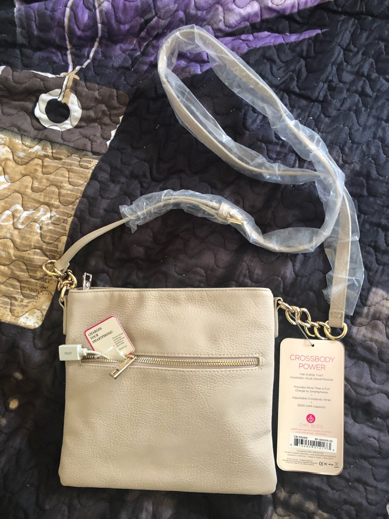 Cross body chic charging bag