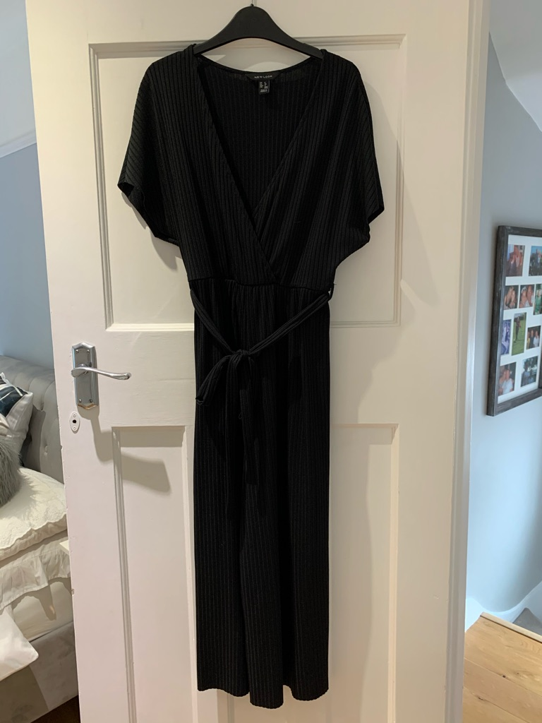 New look black culotte jumpsuit