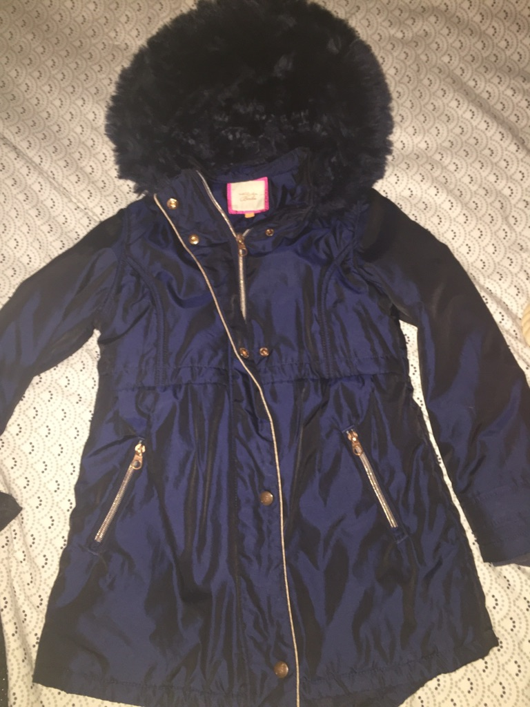 f5aca700a Ted baker navy blue girls coat aged 10
