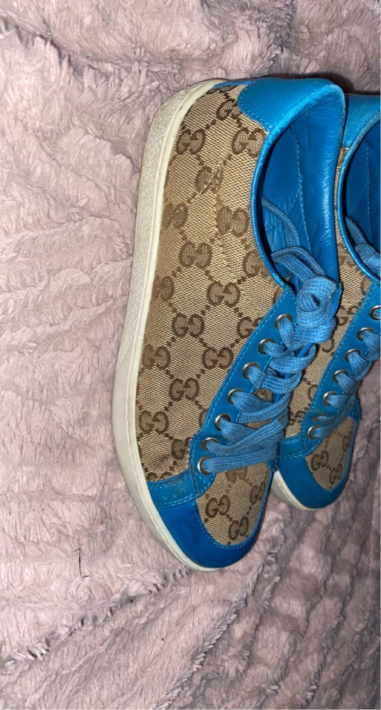 Limited edition blue Gucci trainers