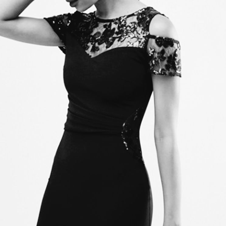 Lipsy cold shoulder black dress 10 BNWT