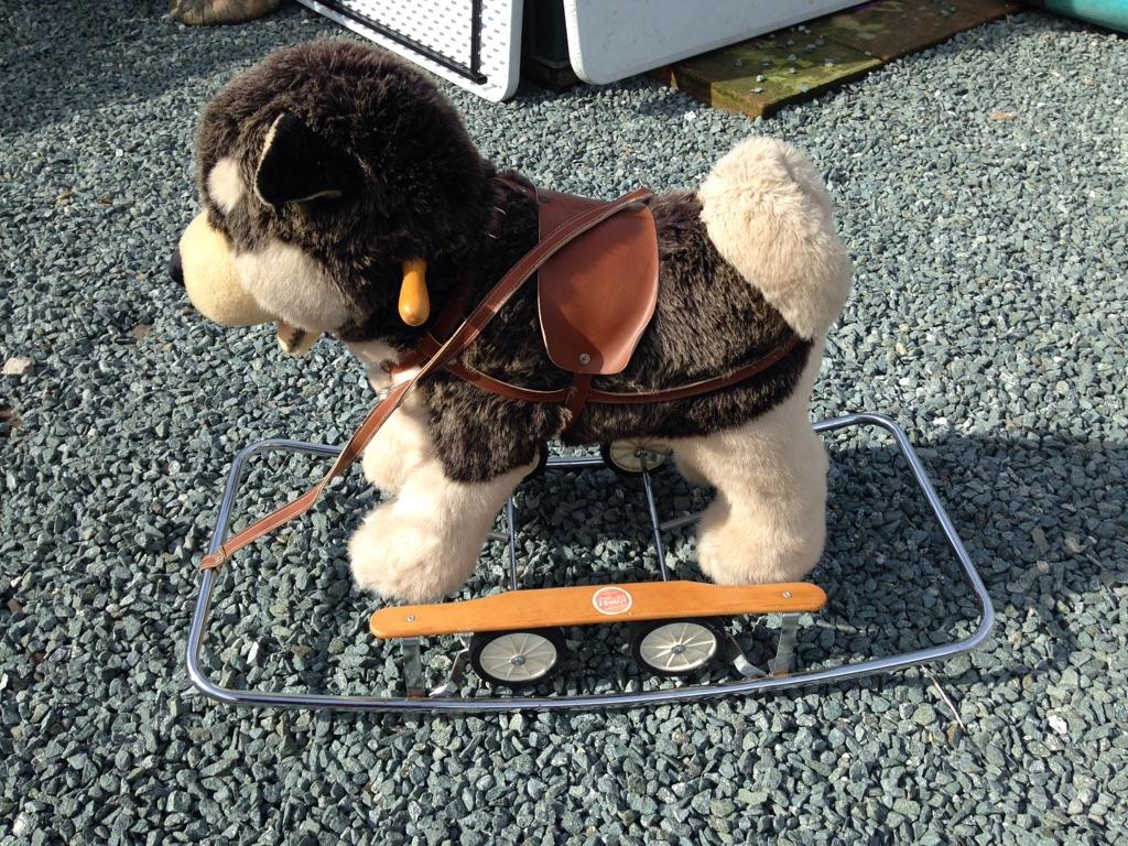 Italian trudi rocking and pull along dog