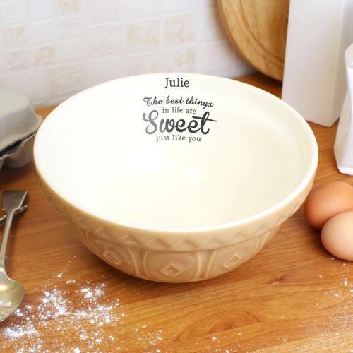 Personalised best things... mixing bowl