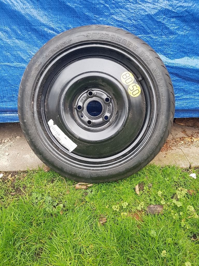 Space saver spare wheel and tyre to fit Toyota Auris Hybrid 63 plate