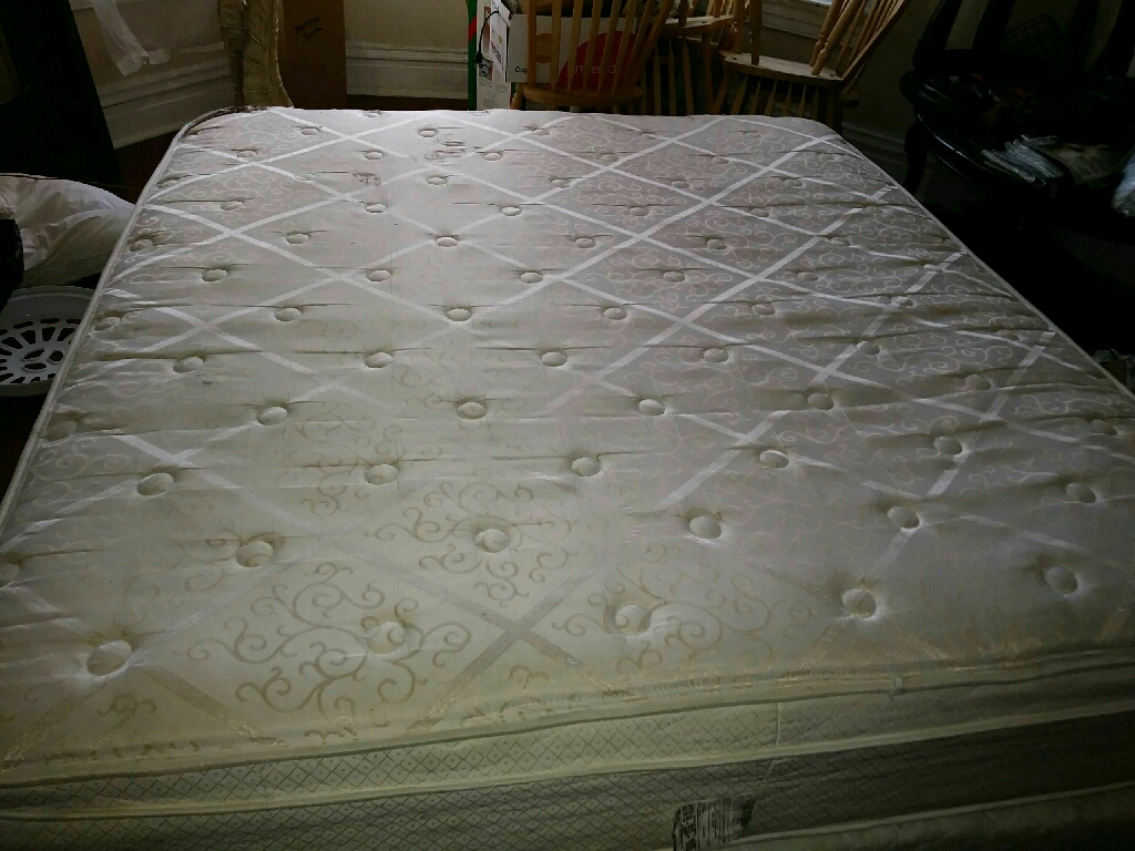 Mattress with two box springs