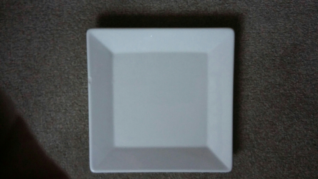 White square plates