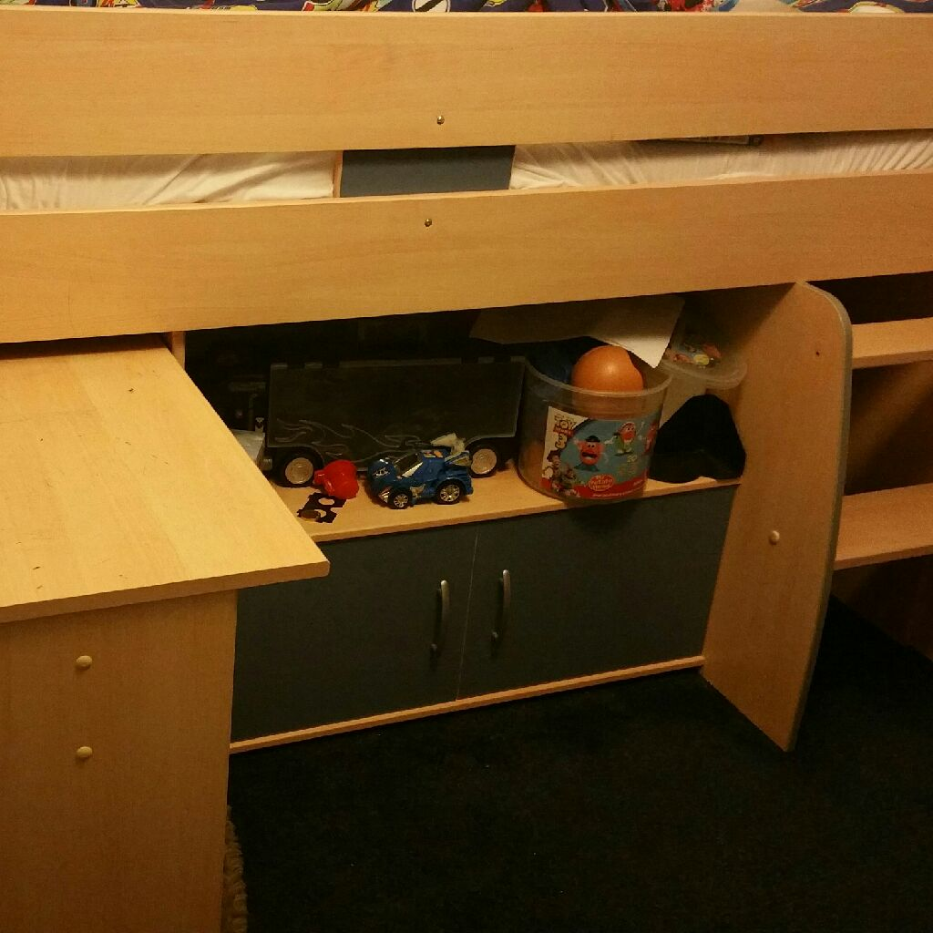 Child's mid sleeper bed