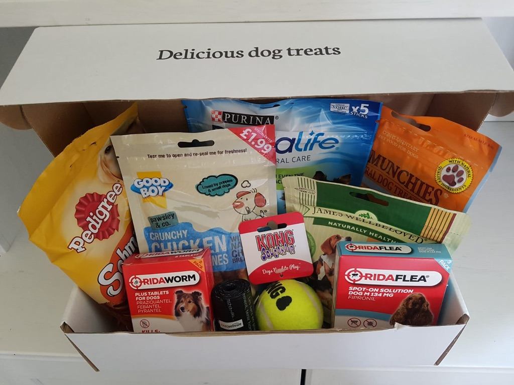 Dog treats and toys