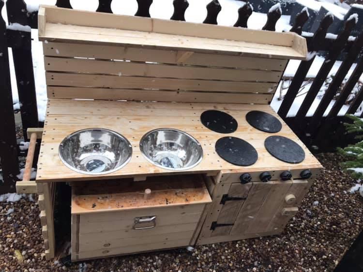 Child's mud kitchen