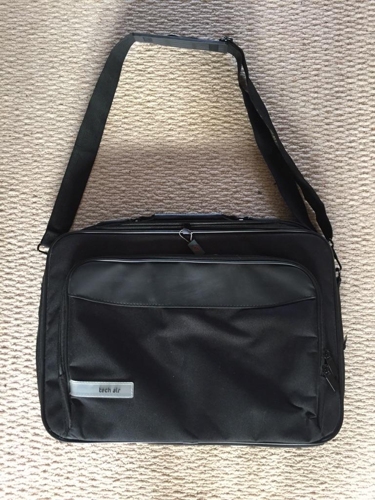 Black laptop carrier bag