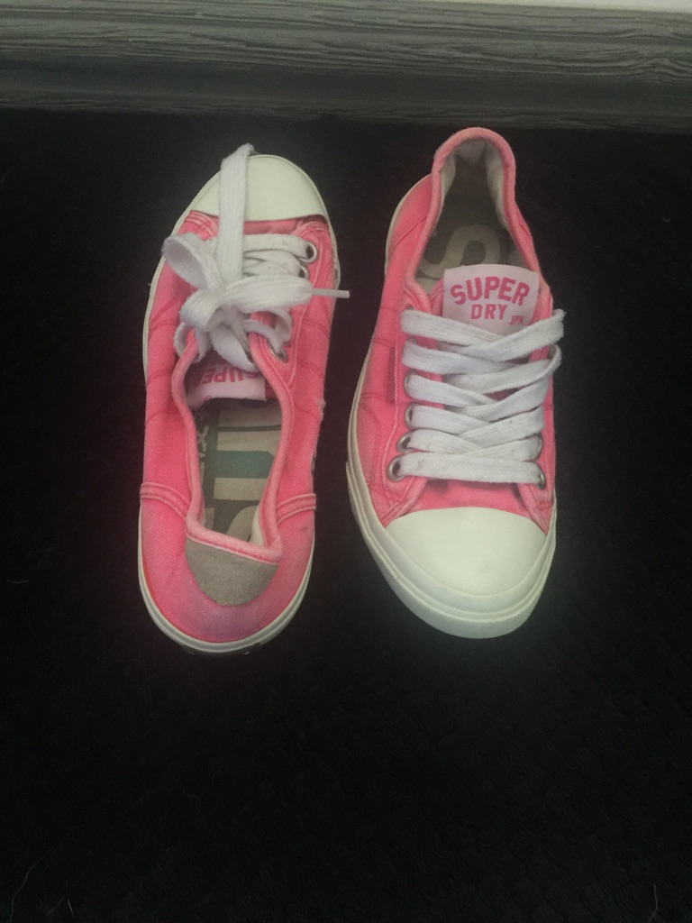 Pink superdry shoes