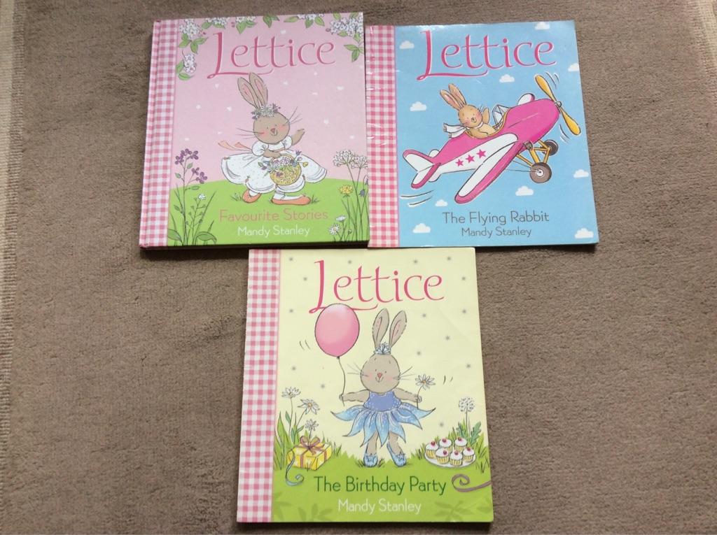 3 Lettice Books (1 hardback, 2 paperback)