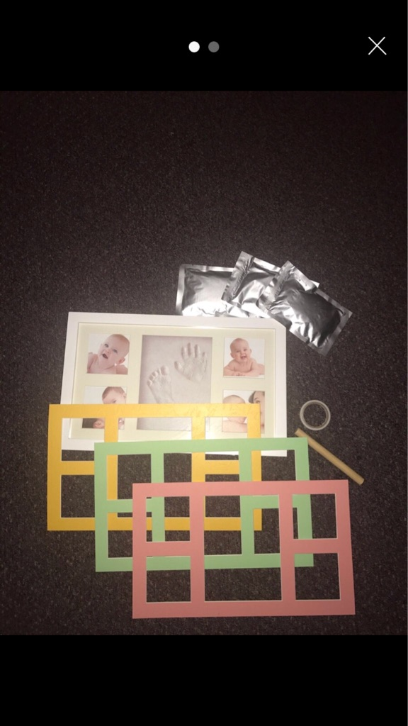 Baby hand and footprint 4 photo frame kit