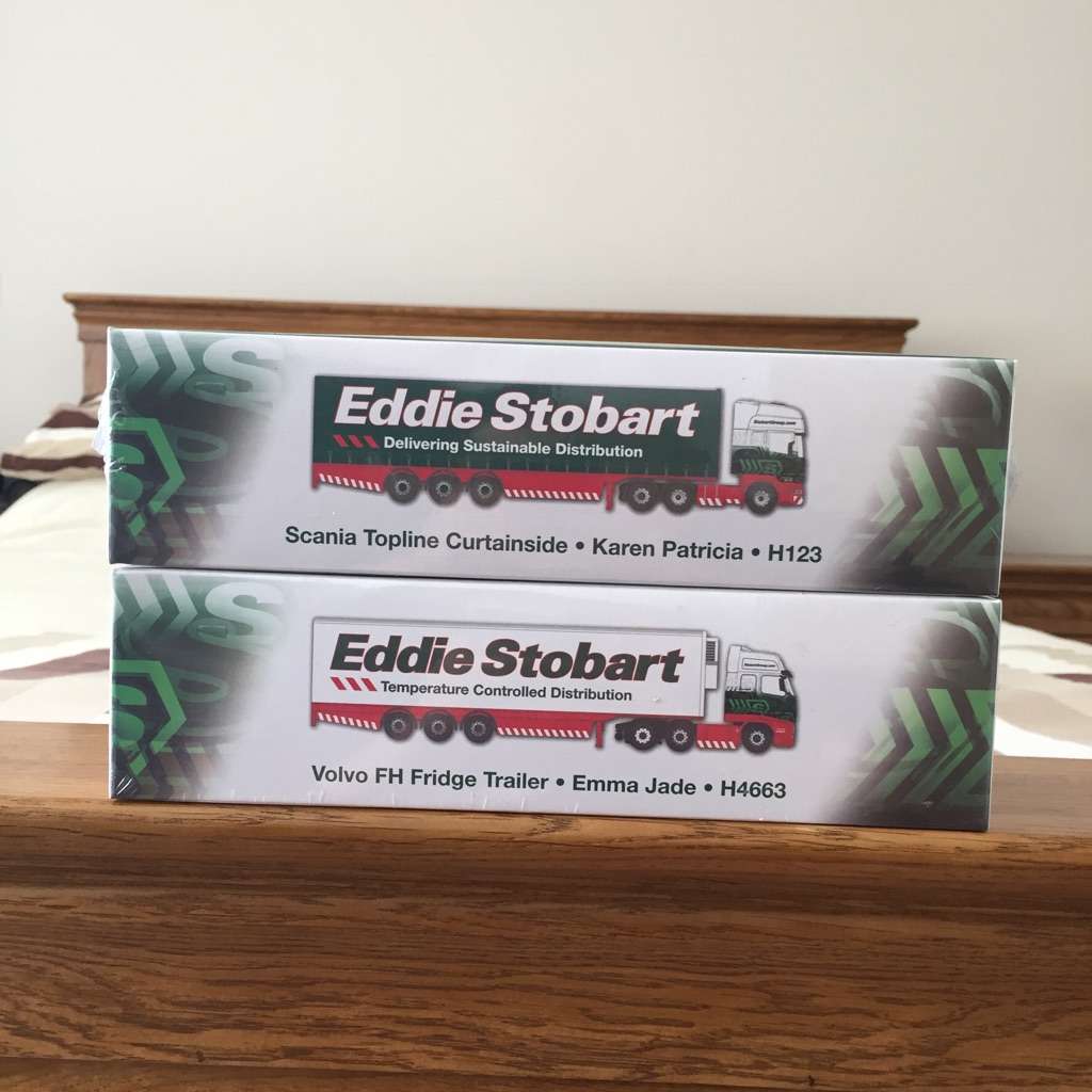 Eddie Stobart 1:76 die-cast lorries